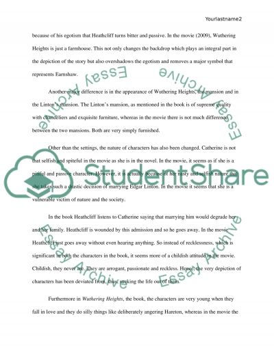 wuthering heights passage 5 essay Disclaimer: this essay has been submitted by a student this is not an example of the work written by our professional essay writers  in wuthering heights, when talking about catherine.