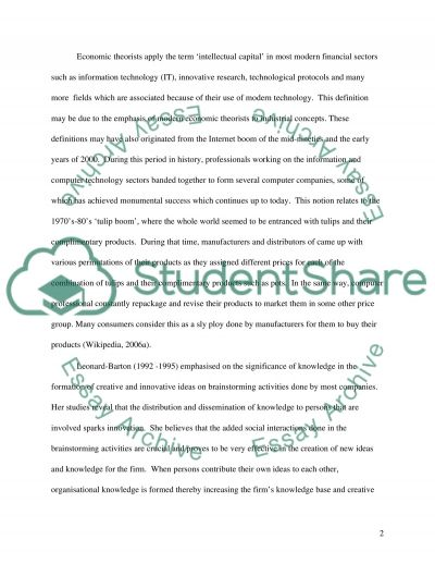 Intellectual Capital development through Soft Systems Thinking essay example