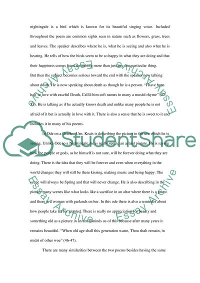 Comparative Poems Essay Example Topics And Well Written
