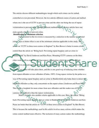 Custom staff study papers