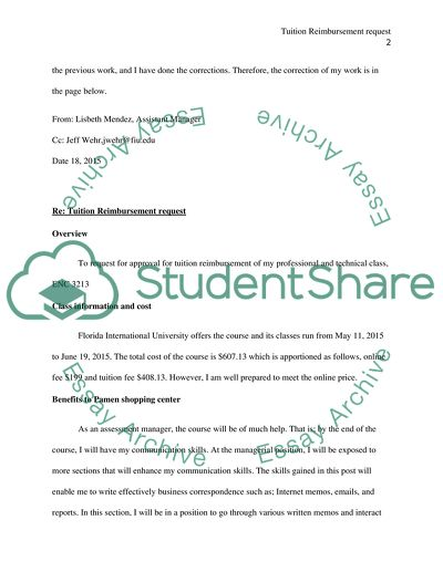 Review Assignment Reimbursement Memo