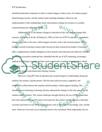 Can ICT Enhance Education In The 21st Century Essay