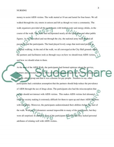 Service-Learning or AIDS WALK Experience essay example