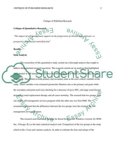 Critique of Research Studies Part-3