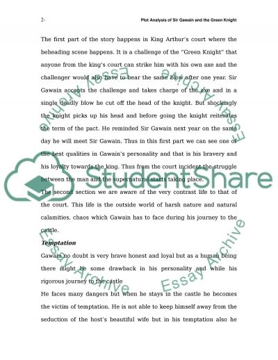 a plot overview of the story sir gawain and the green knight