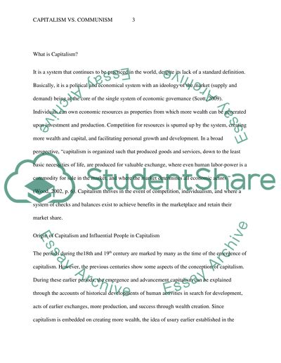 Capitalism Vs Communism Essay Example  Topics And Well Written  Capitalism Vs Communism Writing Essay Papers also Online Writing Journal  Essays Topics For High School Students