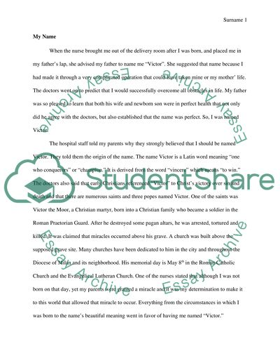 Essay on your name