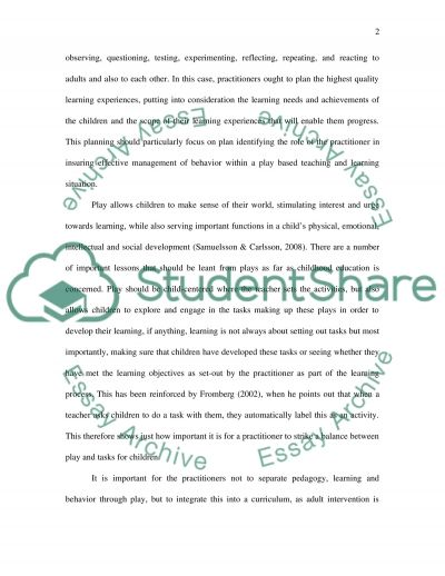 Pedagogical Principles for Teaching and Learning essay example