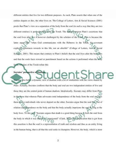 Dualism essay example