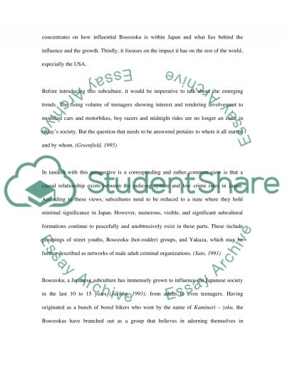 Analyzing Culture Researching Subculture essay example