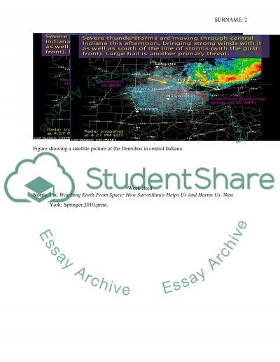 How are derechos detected by weather satellites essay example