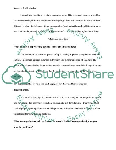 Legal aspects of Nursing- Homework # 5 raquel