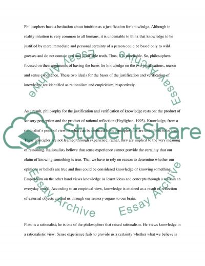 Epistemology: How do we know that we know something essay example
