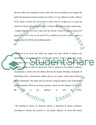 Lies My Teacher Told Me By James Loewen Essay Example  Topics And  Lies My Teacher Told Me By James Loewen English Narrative Essay Topics also High School And College Essay  National Honor Society High School Essay