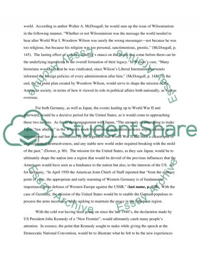Mission of United States essay example