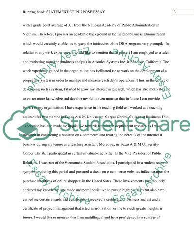 Phd application essay education