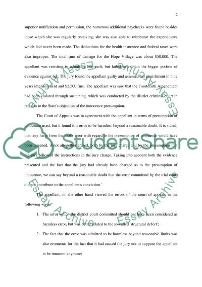 The US Supreme Court Docketed Case No 06-1006 essay example