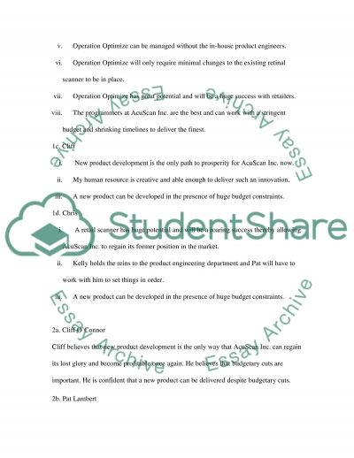 Critical Thinking Case Study (Marketing) essay example