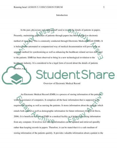 Discussion Forum Article essay example