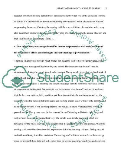 Library Assignment - Case Scenario