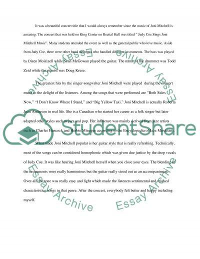 Music paper essay example