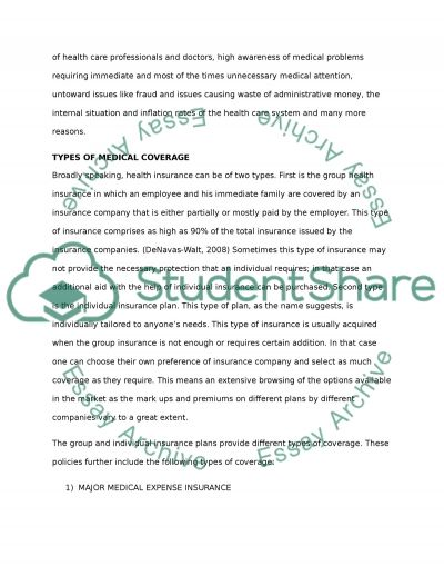 Health, Disability and Long Term Care Insurance Essay example