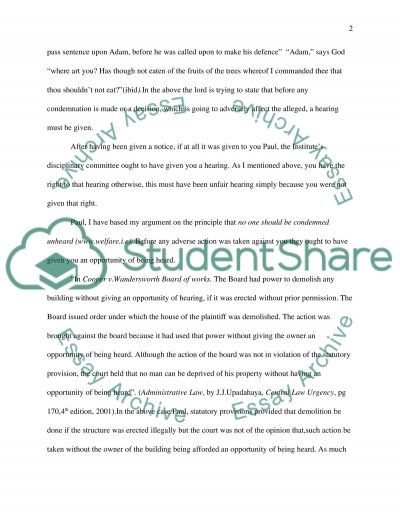 No one should be condemned unheard essay example