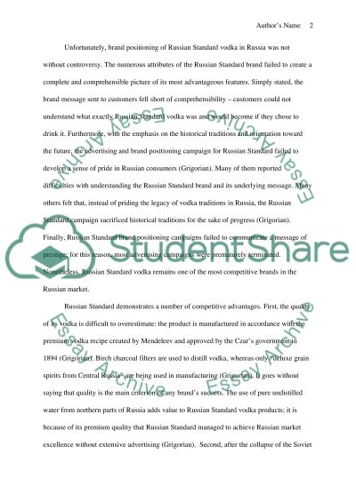 Global Marketing Management essay example