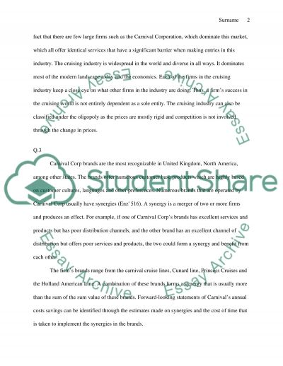 Cruise Industry essay example