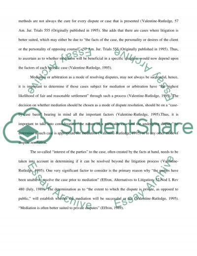 ADR Processes essay example