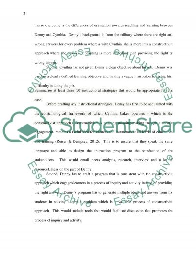 Instructional Strategies Concept Paper