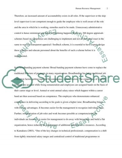 Human Resource Management - development and strategy essay example