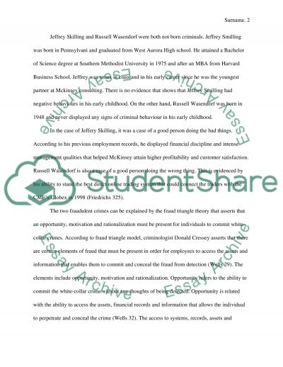 Why did good people do bad things (commit white-collar crimes) essay example