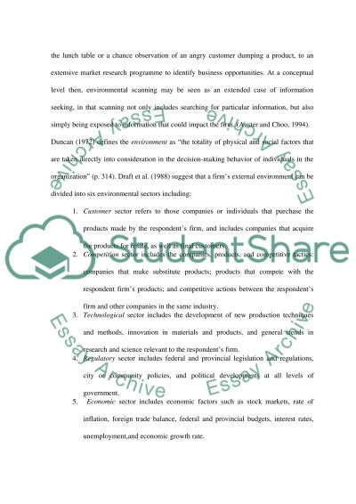 Business Enviroment Essay example