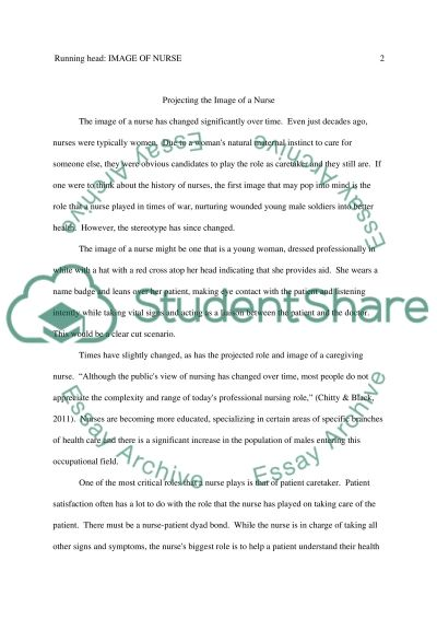 Projecting the Image of a Nurse Essay example