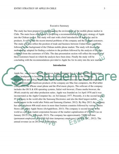 Apple Company Recommendation proposal essay example