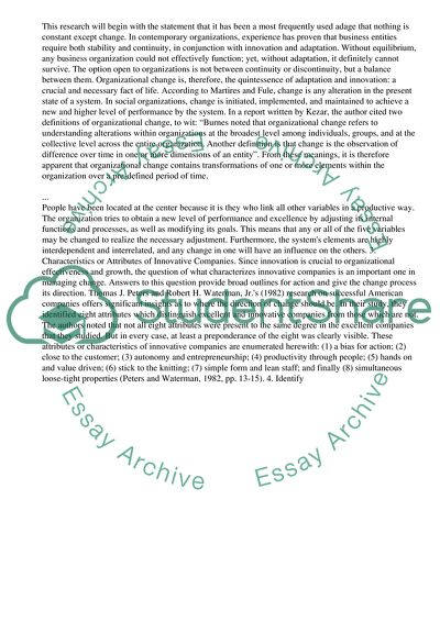 Compare And Contrast Essay Topics For High School Students Organizational Change Sample Proposal Essay also Proposal Essay Template Organizational Change Essay Example  Topics And Well Written Essays  Graduating High School Essay