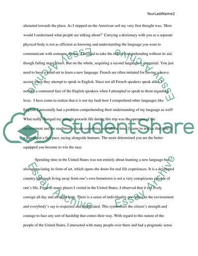 Essay Papers Online My Trip To The United States A Life Changing Experience Example Of A Essay Paper also The Yellow Wallpaper Character Analysis Essay My Trip To The United States A Life Changing Experience Essay Argument Essay Sample Papers