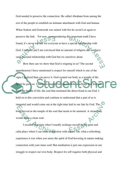 Finding God Seeking the Truth essay example