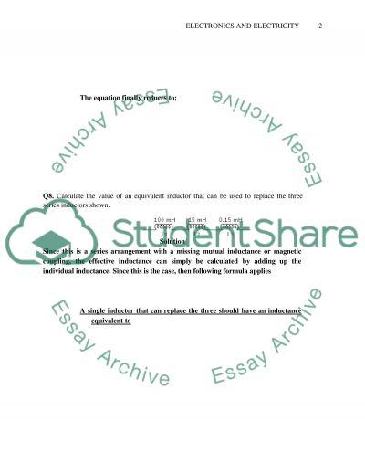 CEET(Electronics& electricity) essay example
