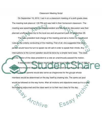 essay classroom