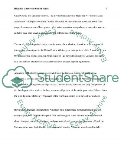 Hispanic American Diversity College Essay essay example
