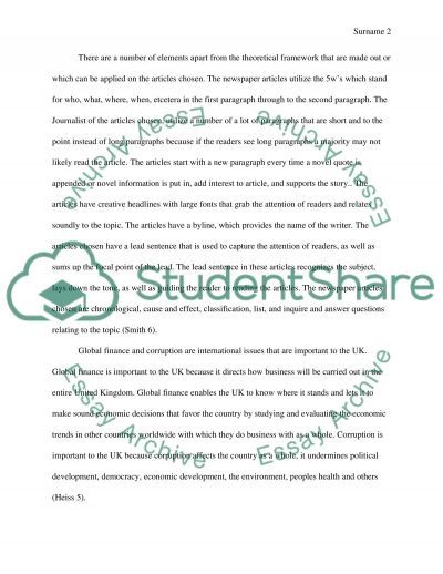 Foreign Newspaper Report essay example