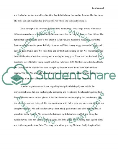 rhetorical essay about the book sula by toni morrison  rhetorical essay about the book sula by toni morrison essay example