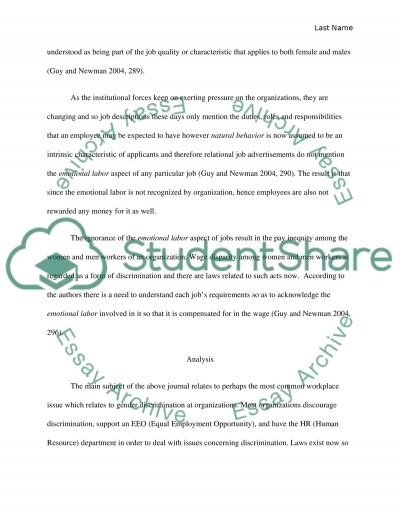 Journal Review essay example