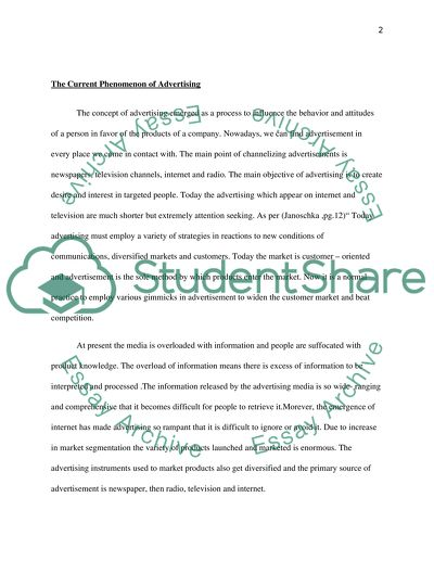 research paper on advertisement