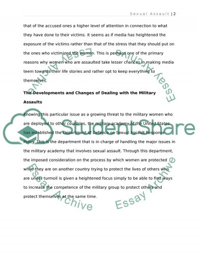 Social Change in Rape and Sexual Assault in Deployed Military essay example