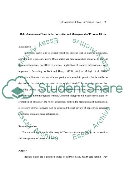 Pressure Ulcers essay example
