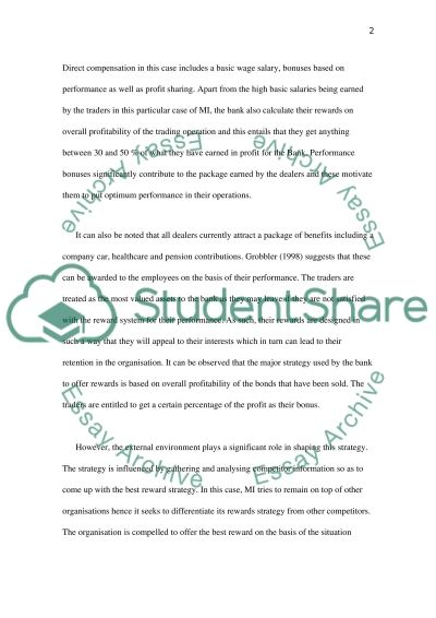 Human Resources- Compensation and Benefits essay example