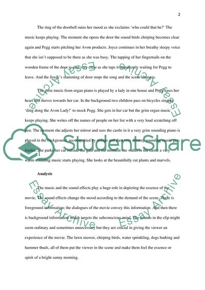 Film music Essay Example | Topics and Well Written Essays